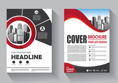 Modern cover brochure template design vector 04
