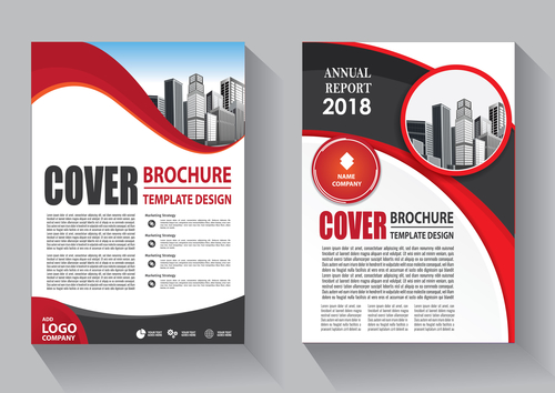 Modern cover brochure template design vector 06