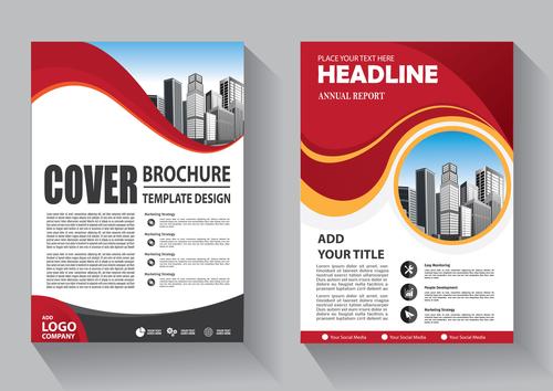 Modern cover brochure template design vector 07