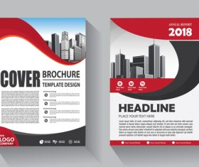 Modern cover brochure template design vector 08