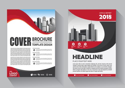 Modern cover brochure template design vector 08