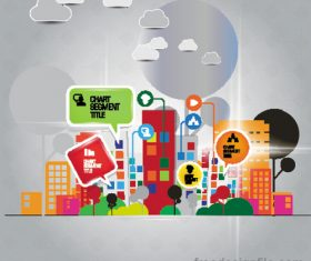 Modern urban infographic chart vectors 02
