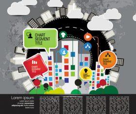 Modern urban infographic chart vectors 03