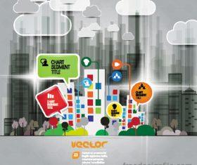 Modern urban infographic chart vectors 04