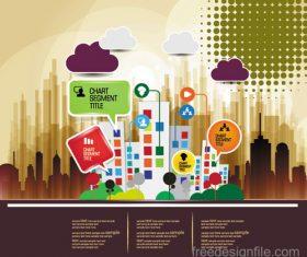 Modern urban infographic chart vectors 05