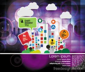 Modern urban infographic chart vectors 07