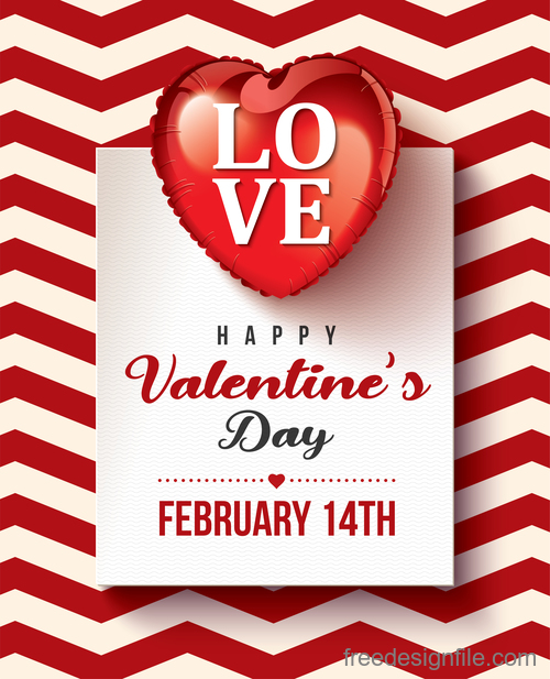 Modern valentines day card template vectors 01