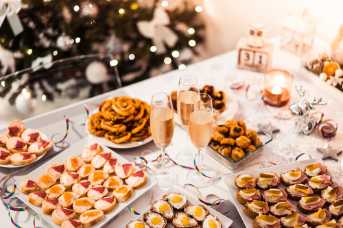 New Years Eve Party Food Stock Photo