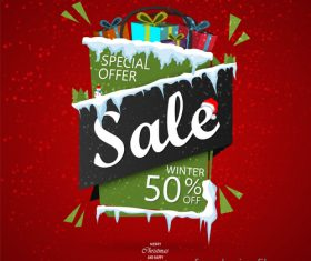 New year special offer sale design vector
