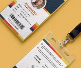 Office Identity Card PSD Template Design