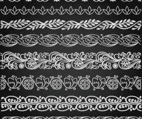 Ornamental border patterns vectors set 02
