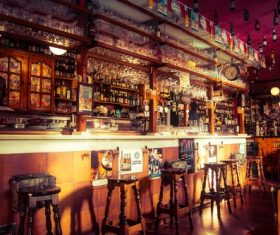 Ornately decorated bar Stock Photo 09