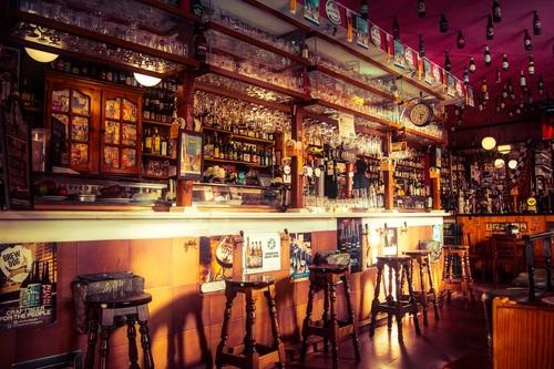 Ornately decorated bar Stock Photo 09