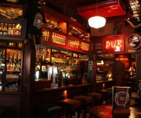 Ornately decorated bar Stock Photo 10