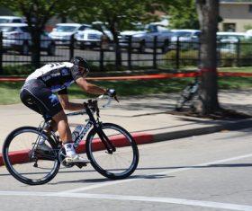 People ride mountain bike Stock Photo 02