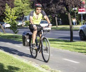 People ride mountain bike Stock Photo 04