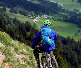 People ride mountain bike Stock Photo 05