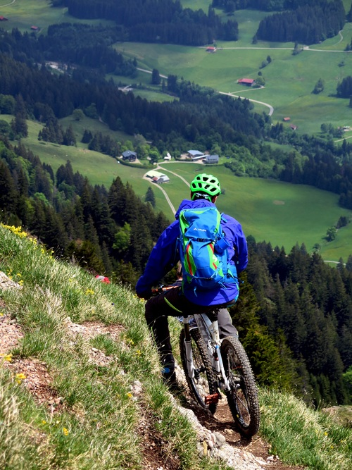 People ride mountain bike Stock Photo 05