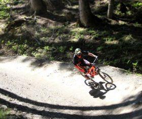 People ride mountain bike Stock Photo 06