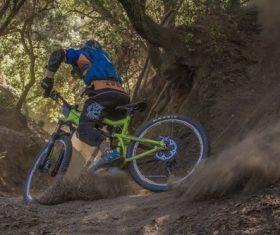 People ride mountain bike Stock Photo 08