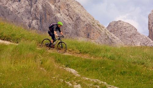People ride mountain bike Stock Photo 09