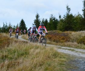 People ride mountain bike Stock Photo 10