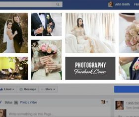 Photography Facebook Timeline PSD Template