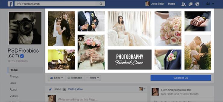 Photography Facebook Timeline PSD Template