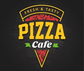 Pizza logo emblem vector 04