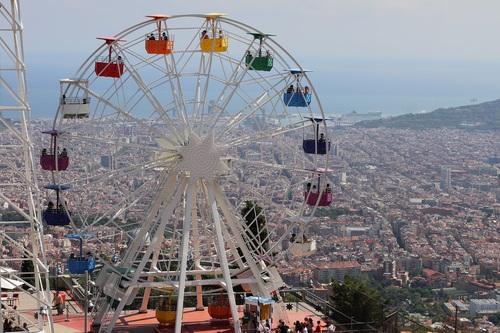 Playground Ferris Wheel Stock Photo