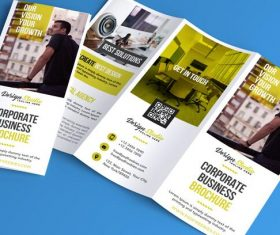 Professional Trifold Flyer and Brochure PSD Template