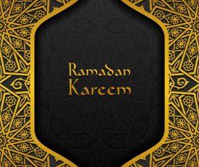 Ramadan kareem golden decor background vector 02