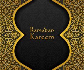 Ramadan kareem golden decor background vector 03