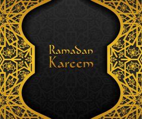 Ramadan kareem golden decor background vector 04