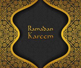 Ramadan kareem golden decor background vector 05