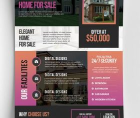 Real Estate Flyer and Poster PSD Template