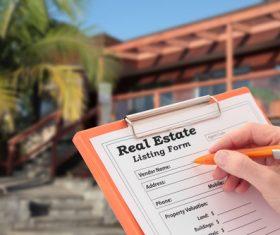 Real estate registration Stock Photo
