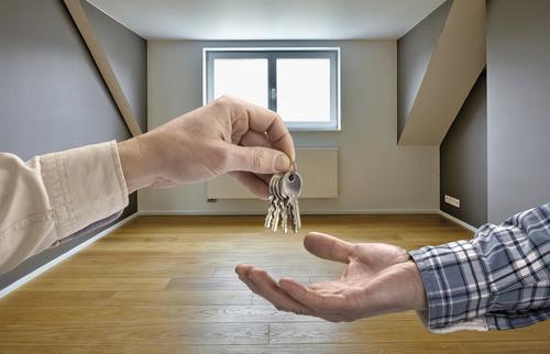 Realtor trader manager rental real estate property Stock Photo 05