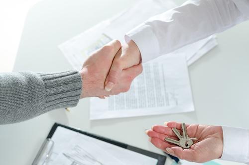 Realtor trader manager rental real estate property Stock Photo 08