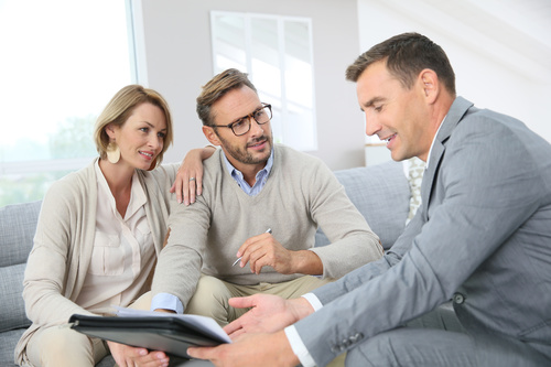 Realtor trader manager rental real estate property Stock Photo 09