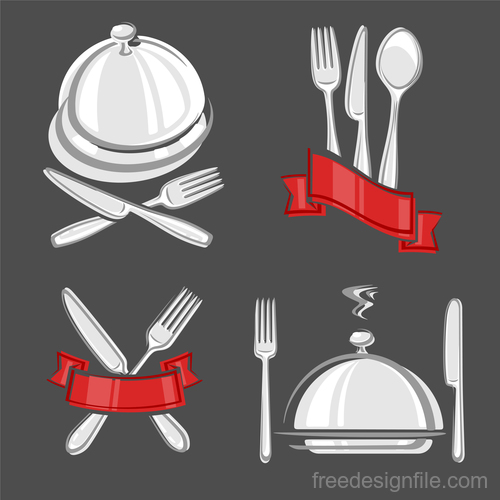 Restaurant labels set vector