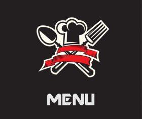Restaurant menu cover with logo vector