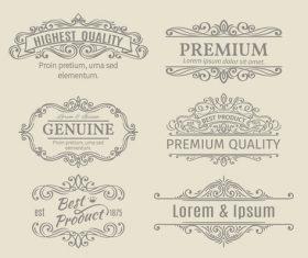 Retro labels design vector set 1