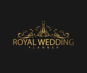 Royal wedding logo design vector