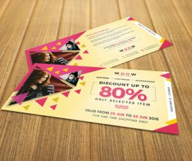 Sale Discount Coupon PSD Template