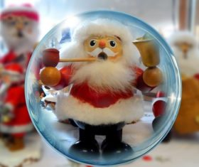 Santa Claus crystal ball Stock Photo