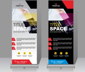 Scrolls vertical banners company vector 03