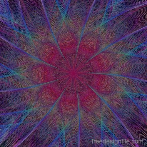 Serpentine fractal background vector material 05