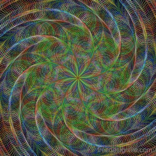 Serpentine fractal background vector material 06
