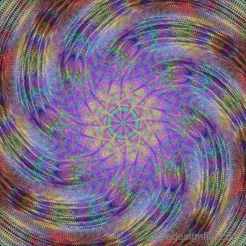 Serpentine fractal background vector material 07